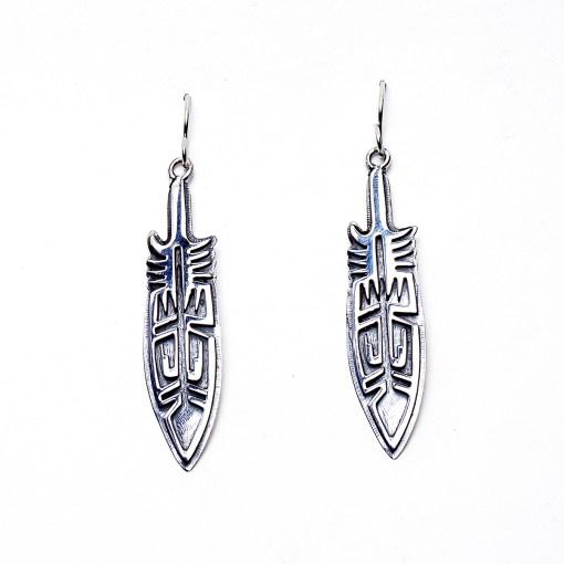 Native American Feather Pattern Earrings