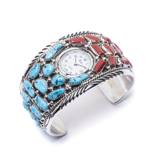 Navajo Tommy Moore Multi Stone Watch