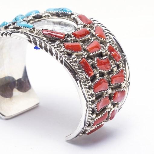 Navajo Tommy Moore Multi Stone Watch