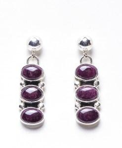 Navajo Roie Jaque Lapis Dangling Earrings