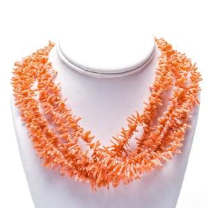 Navajo Angel Skin Coral Necklace