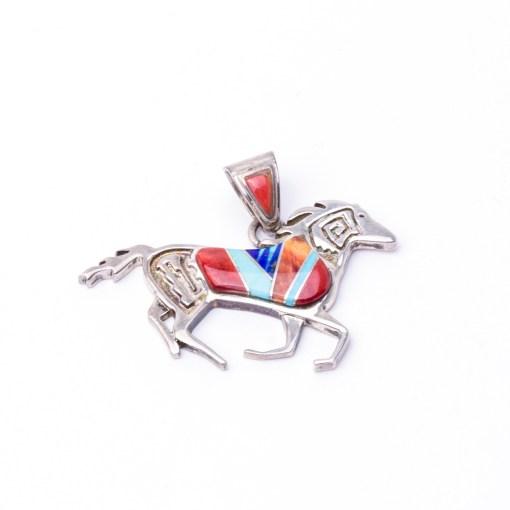 Navajo Calvin Begay Horse Pendant
