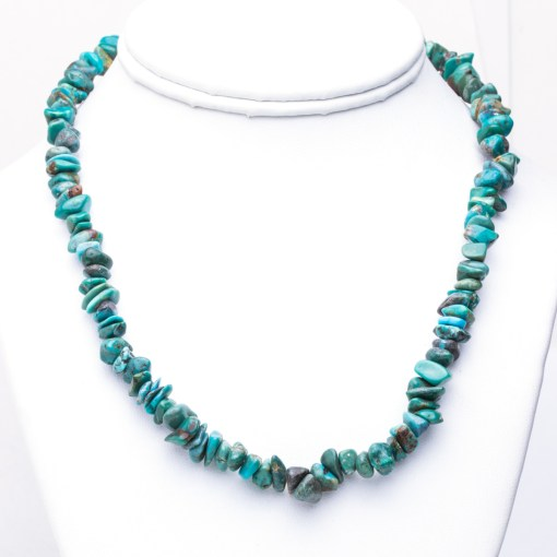 Navajo artist Green Turquoise Bead Necklace