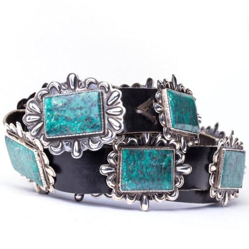 Navajo artist RB Turquoise Concho Belt