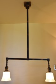 Craftsman chandelier 42 inch full view lit