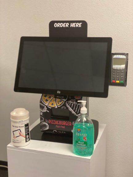 Antibacterial and antimicrobial cleaning and disinfecting for self-service kiosks