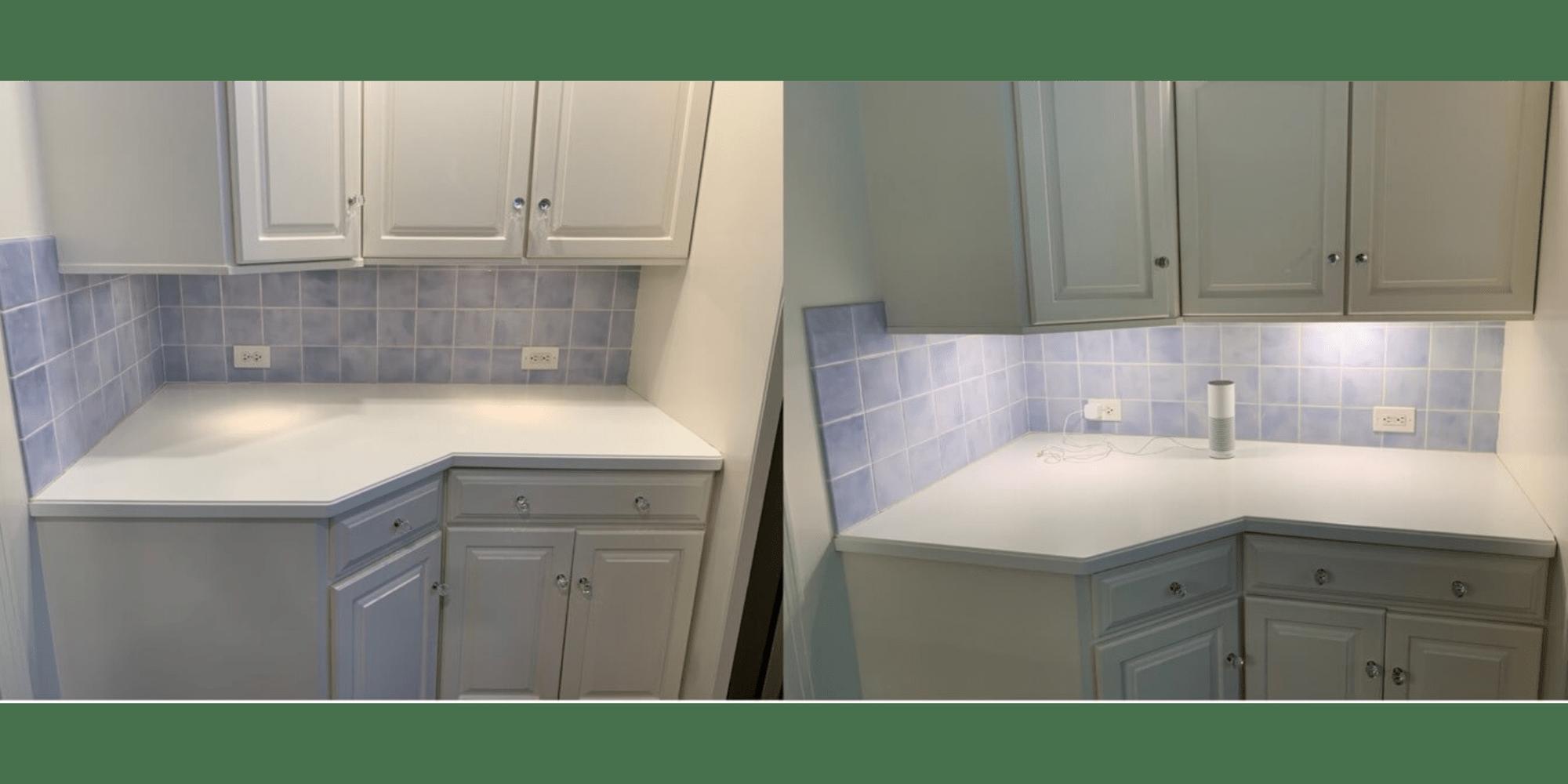 oled light panels transform kitchen