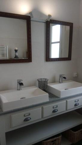 salle d'eau douche italienne 2 vasques WC