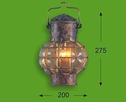 Wandbollamp 7 inch geoxideerd Koper 17