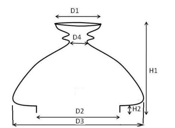 Kap vesta opaal 108 mm 17