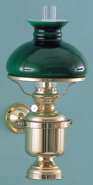 Wandlamp groot vast kap groen elektrisch