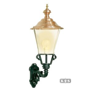 Buitenlamp Enkhuizen M, groen/koper-0