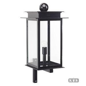 Muurlamp Praag L, zwart