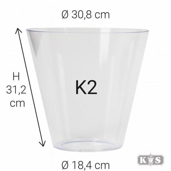 Echt glas K2, helder-0