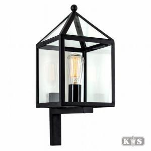 Wandlamp Bloemendaal, zwart-0