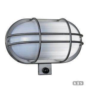 Wandlamp Sonn RVS 18cm, rvs