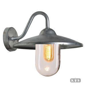 Wandlamp Brig, verzinkt staal-0