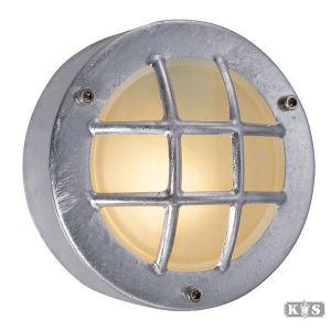Platte wandlamp Navigation, verzinkt staal-0