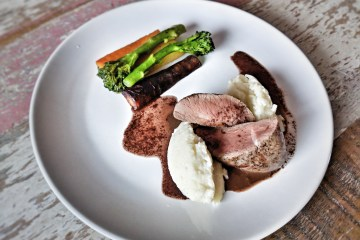Venison with celeriac puree