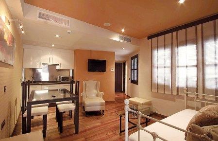 Salon im Hotel Casa Baños de la Villa in Andalusien