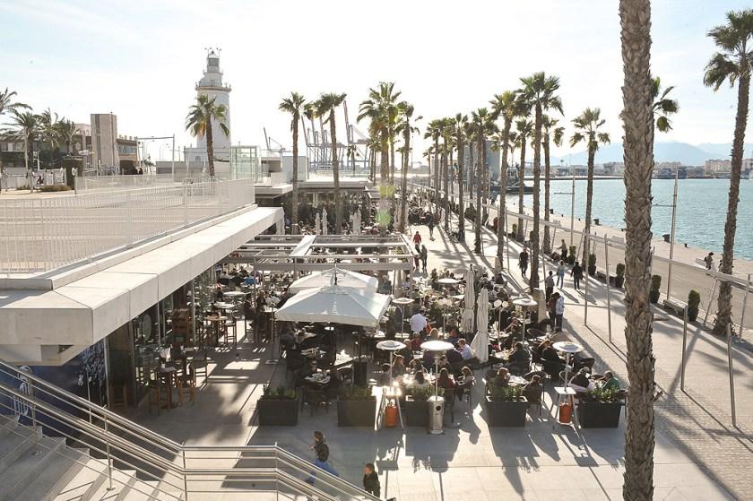 Shopping-Center Muelle Uno am Hafen von Málaga