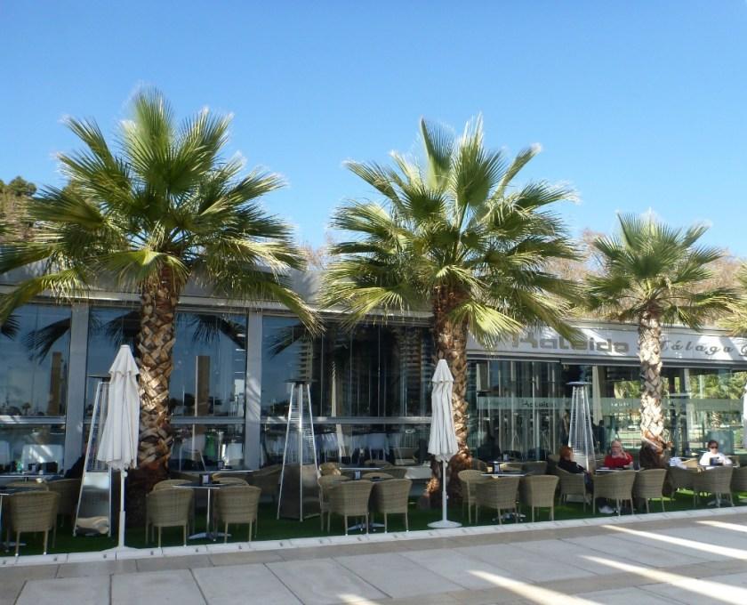 Restaurant Kaleido an der Strandpromenade von Málaga
