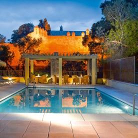 Abendstimmung am Pool