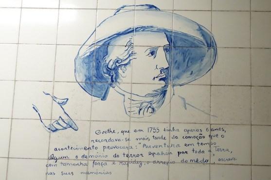 Marques d.Pombal - Goethe Zeichnung in der Lissabonner U-Bahn