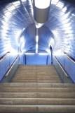 Treppenaufgang der U-Bahn-Haltestelle Parque in Lissabon