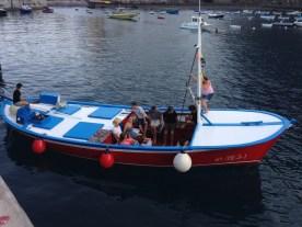 Whale Watching Fischerboot im Hafen von La Gomera