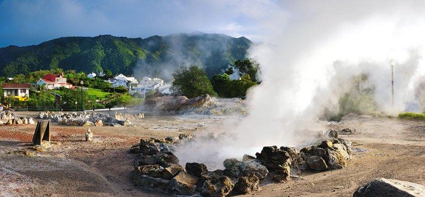 Furnas Fumaroles in Sao Miguel Azoren