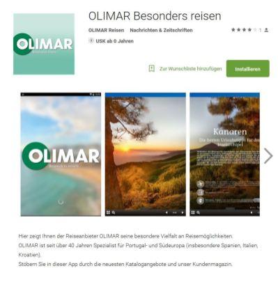OLIMAR App bei Google Play erhältlich