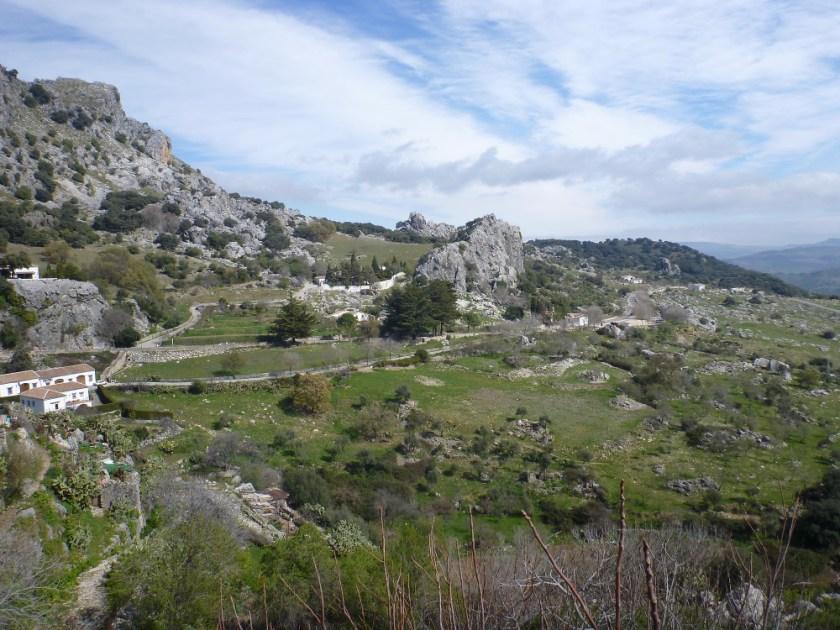 Die herrliche Landschaft bei Grazalema
