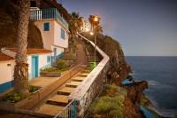 Madeira Küste Abendstimmung Treppe