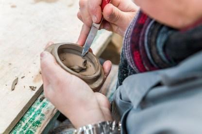 Detailarbeit Keramikfabrik Azoren