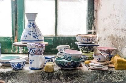 Keramik Vasen und Töpfe Keramikfabrik Azoren