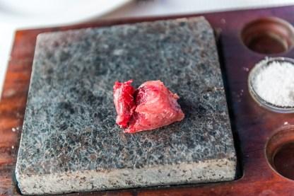 Heißer Stein mit Fisch Azoren