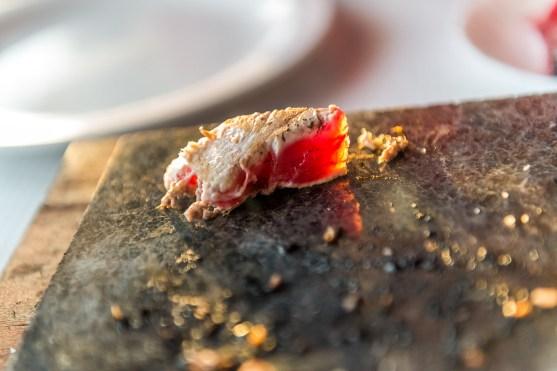 Detail Fisch auf heißer Platte Azoren