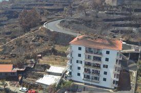 Zerstörte Häuser Madeira
