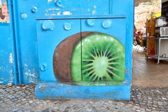 Graffiti Ausflugsziel: Stadt Carvoeiro Algarve Portugal