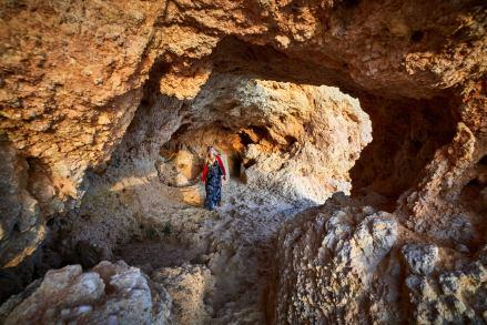 Sonnenuntergang Höhle Algarve in Portugal