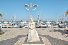 Boote Statue Hafen Santa Luzia