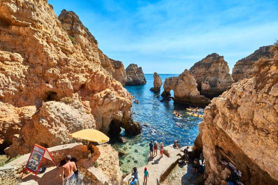 Ausflug: Kajak Höhlen Algarve