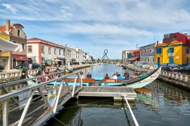 Panorama Fluss Aveiro Portugal