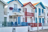 Bunte Häuser Aveiro