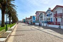 Bunt bemalte Häuser in Aveiro