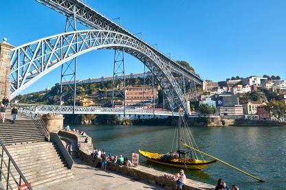 Ponte Maria Pia Brücke Porto Portugal