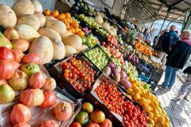 Früchte Markt Stadt Porto Portugal