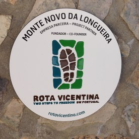 Partner-Plakette der Unterkünfte entlang der Rota Vicentina