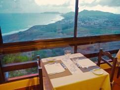 Restaurant Ausblick über die Insel Porto Santo